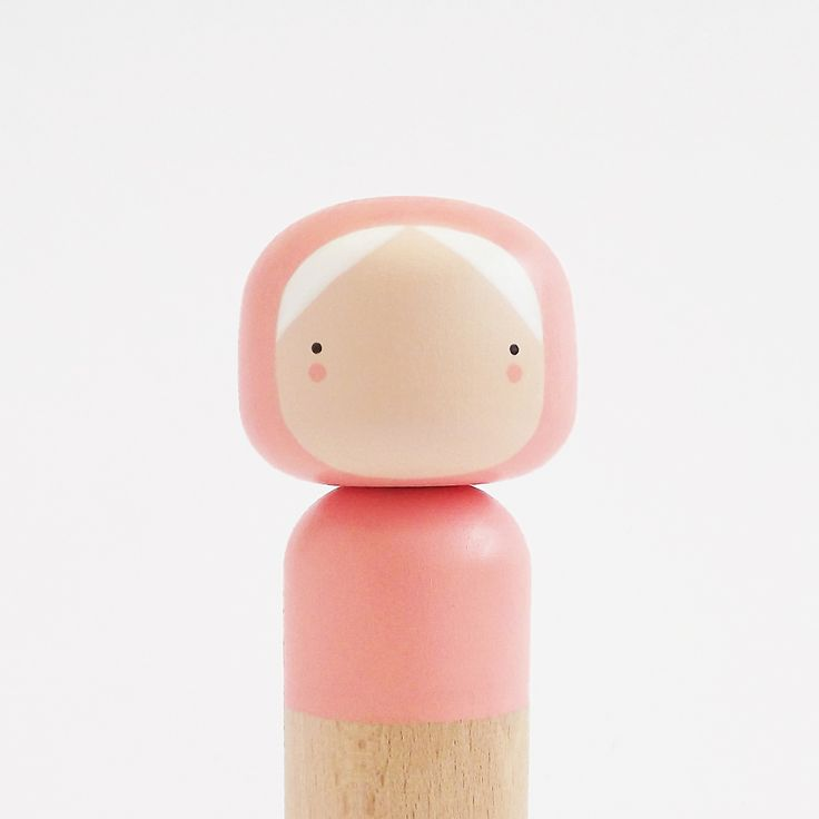 CORAL KOKESHI DOLL - we had these as kids, hmmm where did they go?