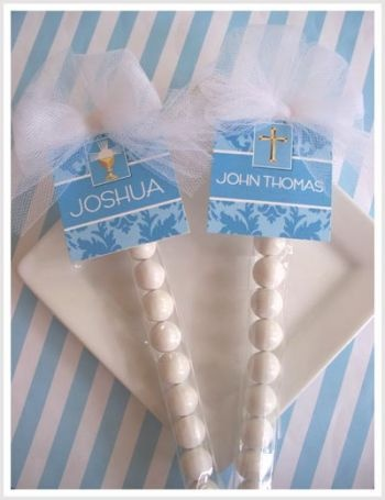 Low Cost Blue First Communion Candy Favor Kits