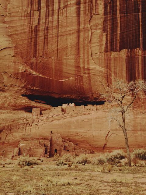 White house ruins,  Canyon de Chelly National Monument, Arizona  #America