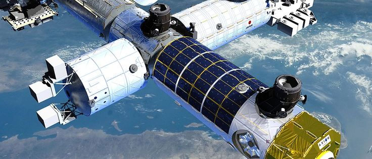 First Commercial Space Station  If all goes as planned, the world's first commercial space station should become a manufacturing hub within a few years of reaching orbit. Axiom Space plans to launch the first pieces of its station in 2020, on the eve of the retirement of the International Space Station (ISS). However, the company sees its space station as more than a manufacturing center, they believe that it will also serve as a research and tourism base.