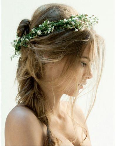 Rustic Wedding Hair from rusticweddingchic.com