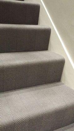 Best Grey Wool Herringbone Flatweave Stair Carpet From Urbane 400 x 300