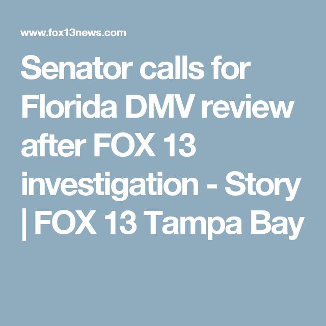 Senator calls for Florida DMV review after FOX 13 investigation - Story | FOX 13 Tampa Bay