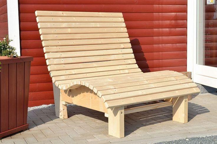 Liegestuhl Relaxliege Sonnenliege AUS Holz FÜR Garten Terasse Balkon