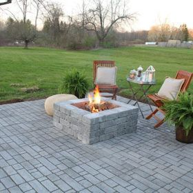 How To Build A Paver Patio With A Built In Fire Pit