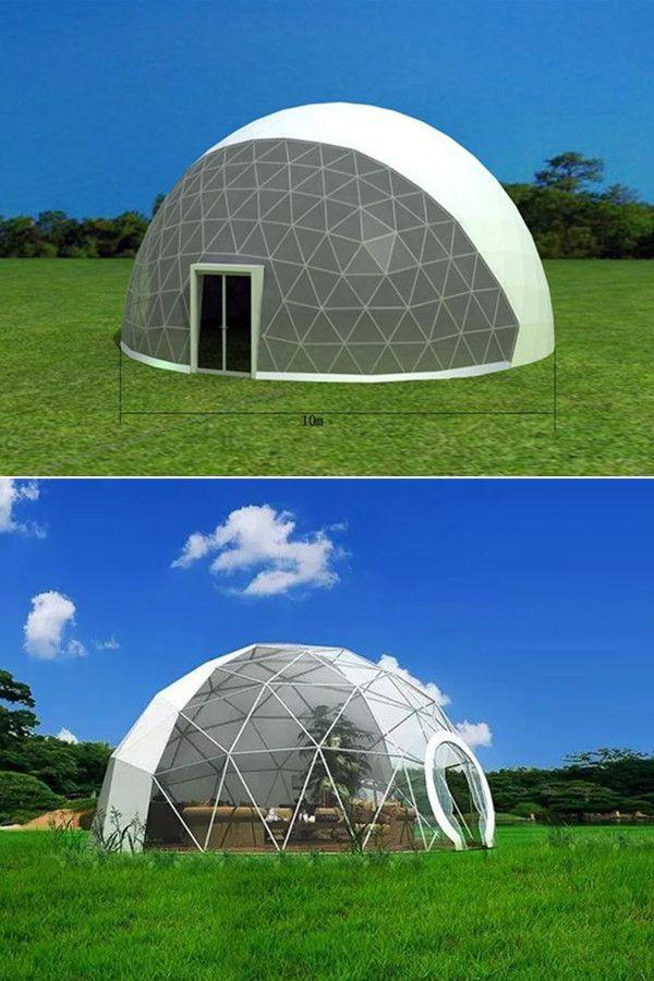 Esta Casa De Glamping Con Carpa Domo Unica Es Perfecta Para Parejas Y Familias Dome Tent Tent Glamping Geodesic Dome