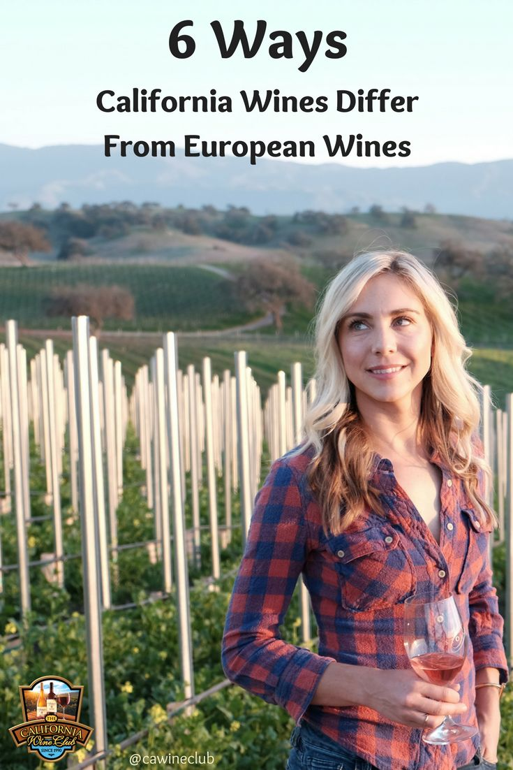 6 Ways California Wines Differ From European Wines https://www.cawineclub.com/blog/6-ways-california-wines-differ-from-european-wines/?utm_campaign=coschedule&utm_source=pinterest&utm_medium=The%20California%20Wine%20Club&utm_content=6%20Ways%20California%20Wines%20Differ%20From%20European%20Wines #wine #cawineclub #TheCaliforniaWineClub #StolpmanVineyards