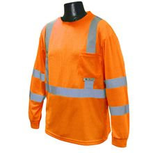 Radians Hi Vis Orange Long Sleeve T-shirt with Max-Dri™ Class 3 ST21-3POS | Hi Vis Safety Direct will beat any other price , we are #1 in Hi Visibility Items .