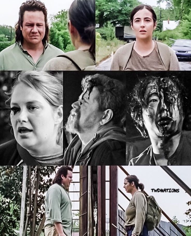 #twdnations Eugene's face when Tara walked up to the gate.