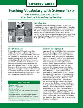 Strategy Guides highlight some of the most powerful instructional strategies from the Seeds of Science/Roots of Reading integrated curriculum. Each Strategy Guide provides a description of one of these strategies, an overview of how to teach the strategy with many science texts, and a specific plan for teaching the strategy with a Seeds of Science/Roots of Reading book.