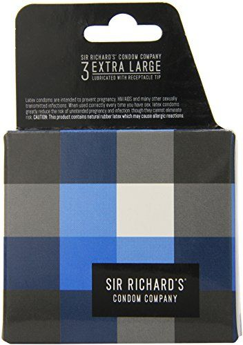 Sir Richard's Condom Company Extra Large Condoms, 3-Count Pack ** You can get more details by clicking on the image.