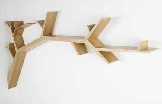 Funky Storage Solutions: tree branch shelves | Captivatist