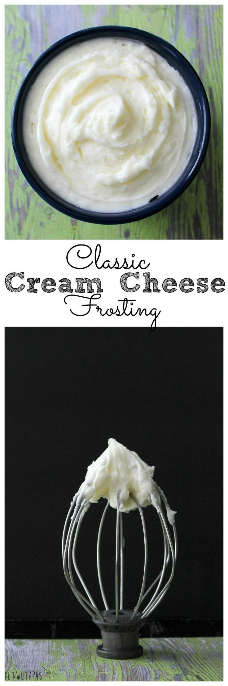 If you have a dessert emergency it is best to have classic cream cheese frosting on hand. This simple mix of butter, cream cheese, and a touch of salt will change your life.  It can be used for a variety of desserts! Classic Cream Cheese Frosting | Take Two Tapas