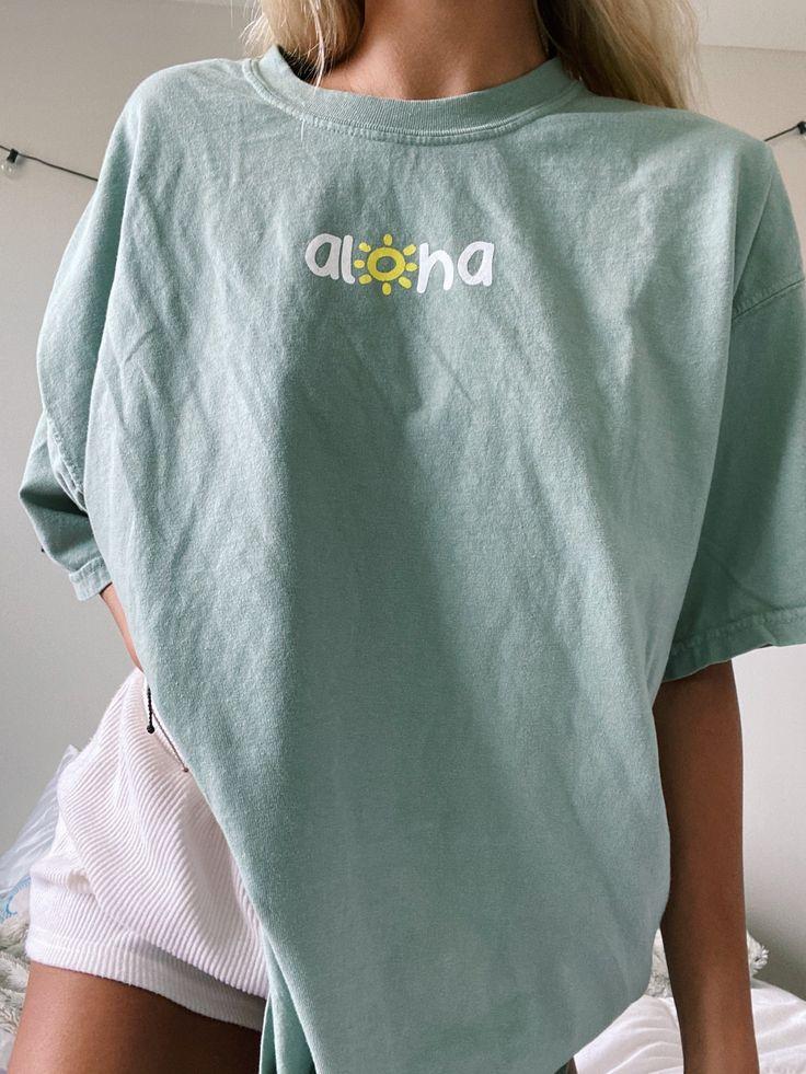 Light sage aloha tee in 2020 aesthetic shirts comfort
