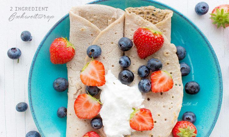 Deze glutenvrije boekweit wraps maak je eenvoudig en snel met maar 2 ingrediënten! Een gemakkelijk en gezond recept voor iedereen. Deze wraps zijn vegan!