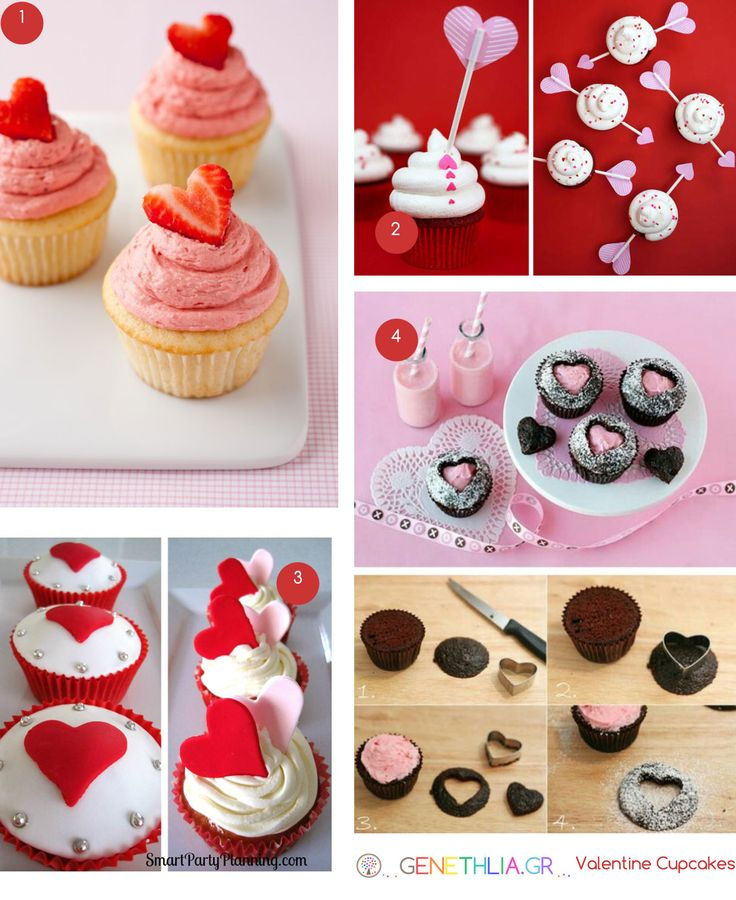 Valentine cupcakes, cut the strawberry like a heart! Duh!