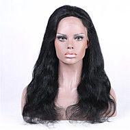 """10+""""-26""""+peruano+ondulado+cabelo+virgem+peruca+cheia&parte+dianteira+do+laço+cor+peruca+preta+com+cabelo+do+bebê+para+as+mulheres+–+EUR+€+94.08"""