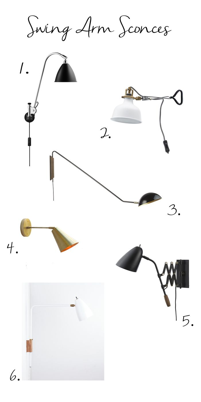 Contemporary Wall Lamps Swing Arms : Swing Arm Wall Sconces For the Home Pinterest September 2014, Sconces and September