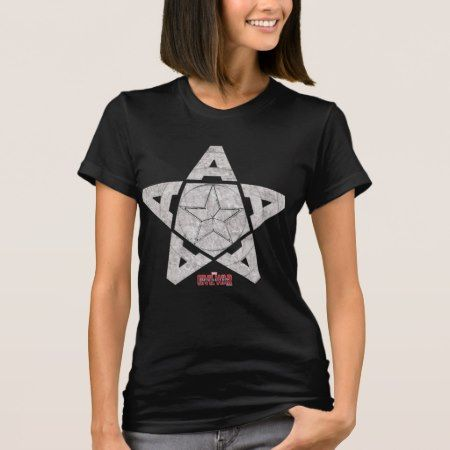 Winter Soldier Star Formed With Letter A T-Shirt - click to get yours right now!