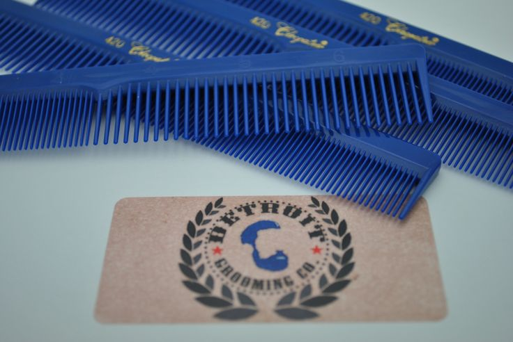 Blue Nitrile Rubber Combs  Manufactured using only the highest quality nitrile rubber for superior strength and flexibility. A must-have for any pomade user!