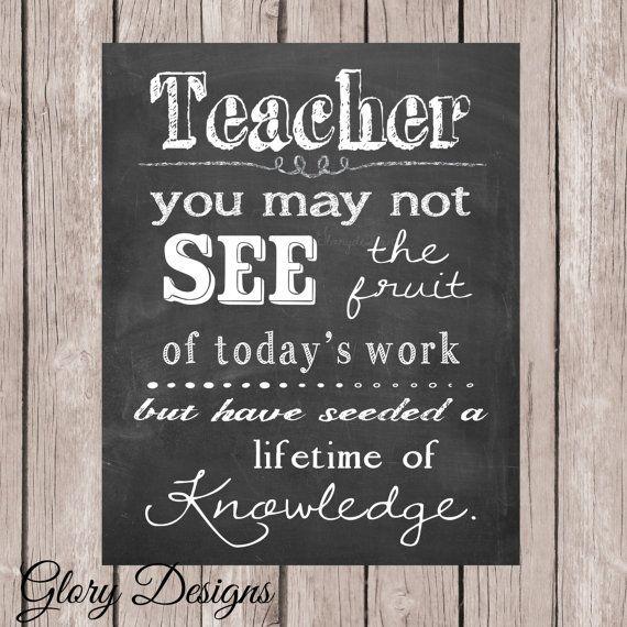 teacher appreciation gift teacher quote teacher