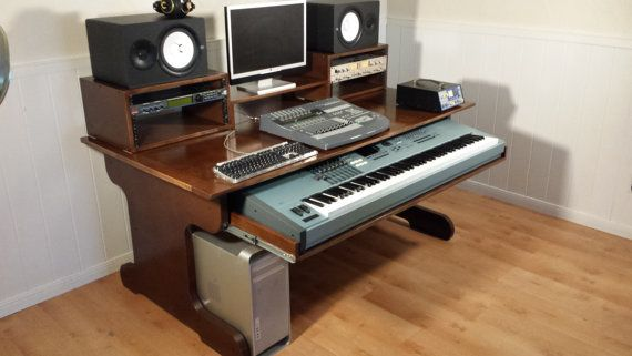 Custom Digital Audio Workstation Desk FREE by ExceptionalCraft