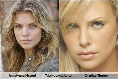 AnnaLynne McCord and charlize theron