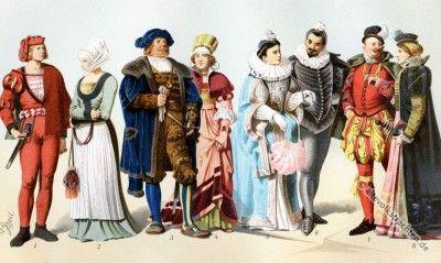 Renaissance Mode in Deutschland des 16. Jahrhunderts.