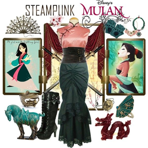 """Steampunk: Mulan"" by ghsdrummajor on Polyvore that is just ridiculously awesome"