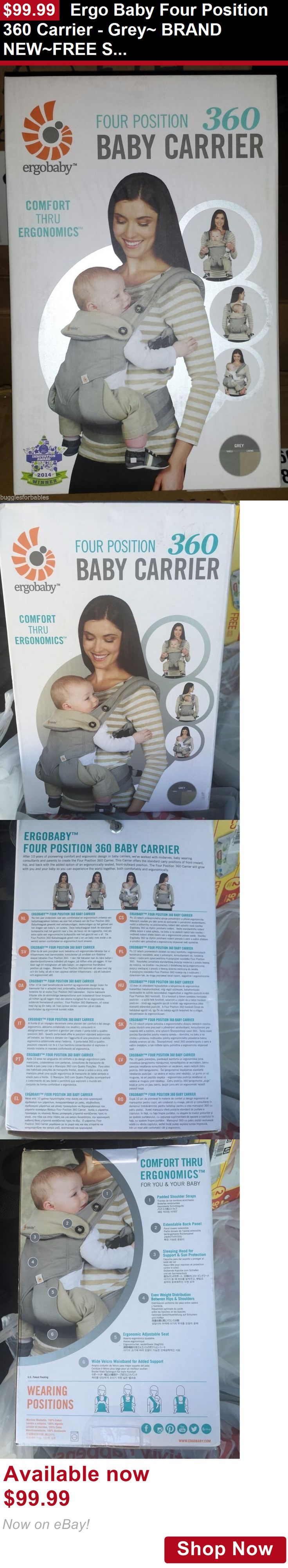Baby Carriers and Slings and Backpacks: Ergo Baby Four Position 360 Carrier - Grey~ Brand New~Free Shipping BUY IT NOW ONLY: $99.99