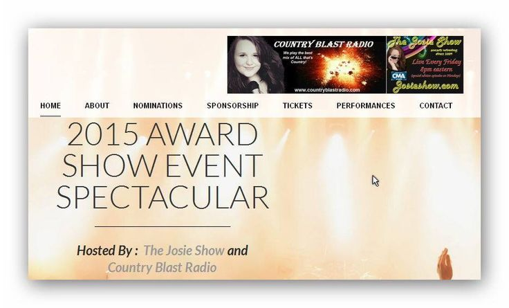 Wayne's been Nominated for a 2015 country music award in Nashville on the Josie Radio Show