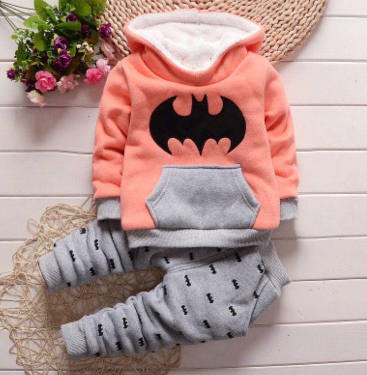 Batman winter suit for infant girls