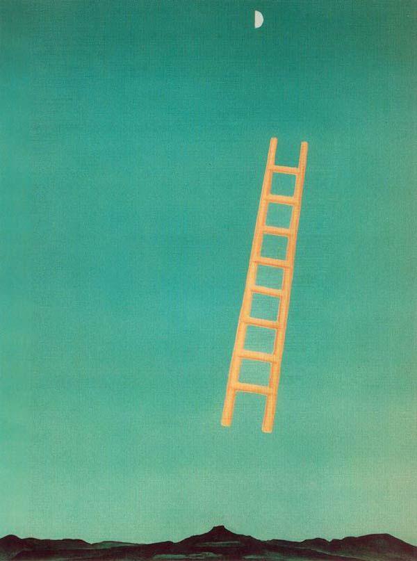 "Georgia O'Keeffe, ""Ladder to the Moon."""