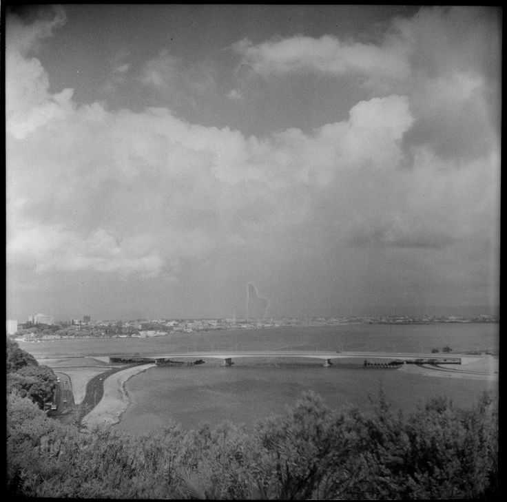 109516PDView across the Swan River and the Narrows Bridge from Kings Park, ca. 1960. (Click to Start Zoom)