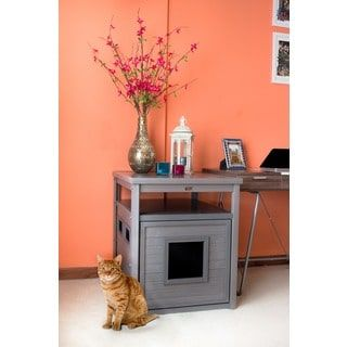 Shop for ecoFLEX Jumbo Litter Loo Hidden Kitty Litter Box End Table. Get free delivery at Overstock.com - Your Online Cat Supplies Store! Get 5% in rewards with Club O! - 18318928