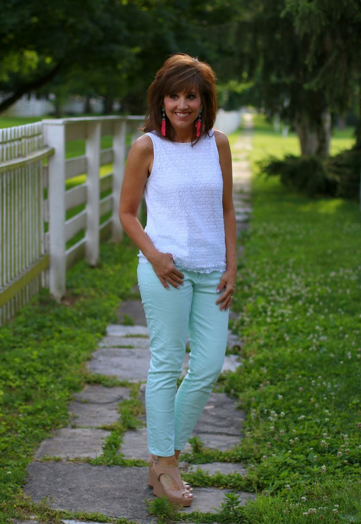 22 Days of Summer Fashion: Mint Jeans - Grace & Beauty