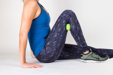 2. Calf Smash With Lacrosse Ball  http://greatist.com/move/knee-pain-relief