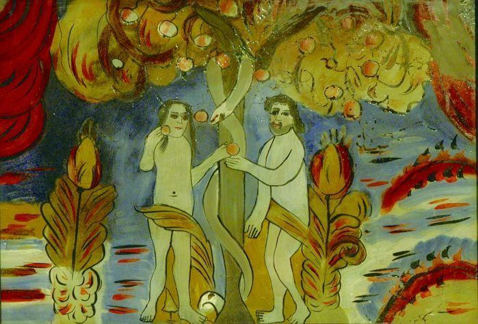 Icoană - Prodan, MariaAdam şi Eva - Muzeul Naţional al Unirii - ALBA IULIA (Patrimoniul Cultural National Mobil din Romania. Ordin de clasare: 2113/04.03.2011 - Fond)