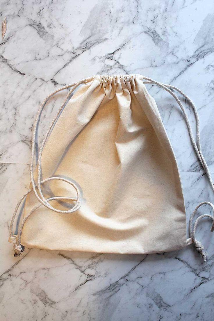 Easy calico drawstring bag in 2020 bags drawstring