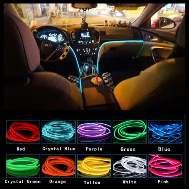 Online Shop Jingxiangfeng 5m Car Decorative Lights Driving At Night Ambient Light El Cold Light Line Diy Decorativ Car Interior Diy Car Interior Car Assesories