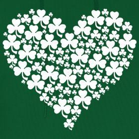 White Shamrock Heart