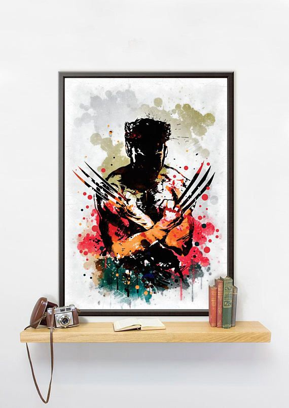 This Wolverine poster printed on Mimaki JV150 Series: affordable, high performance photo printer. Print resolution is 1440 DPI. You will get a photo quality picture produced with eco-solvent ink, which is long lasting and makes the colors look great.  ✐You can choose the material for you poster from next ones:  ➤Pure cotton canvas 340g (gloss or matt). It is the best choice for those, who like to decorate a living space in elegant classicism or antiquity style. This cotton canvas truly gives…