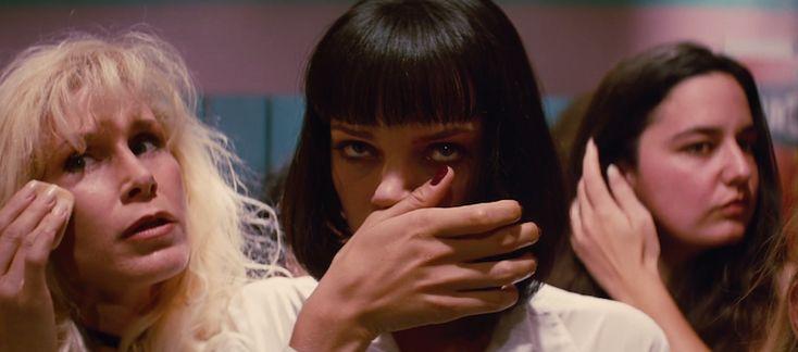 Uma Thurman dans Pulp Fiction (Crédit Image : Jersey Films, Miramax Films)