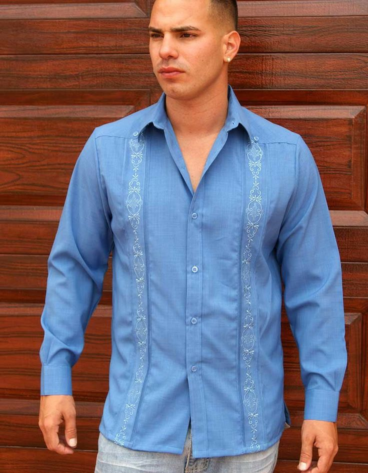 Mens Embroidered Linen Shirts