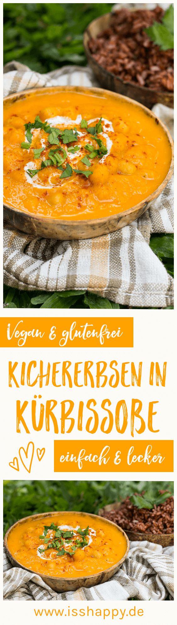 Kichererbsen in cremiger Kürbissoße – vegan & lecker