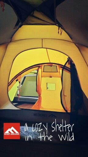 A cozy shelter in the wild. *) capture interior from expedition tent of Merapi Mountain brand.