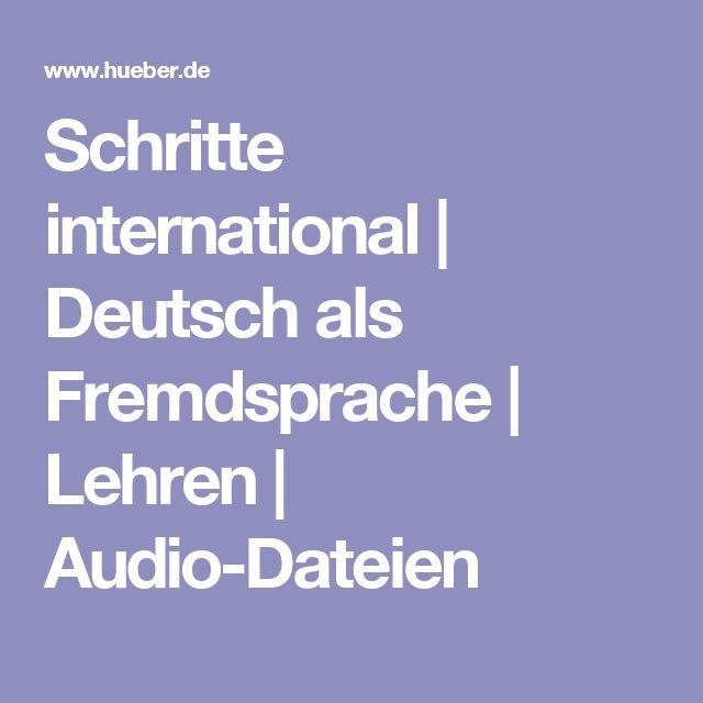 Schritte international   Deutsch als Fremdsprache   Lehren   Audio-Dateien