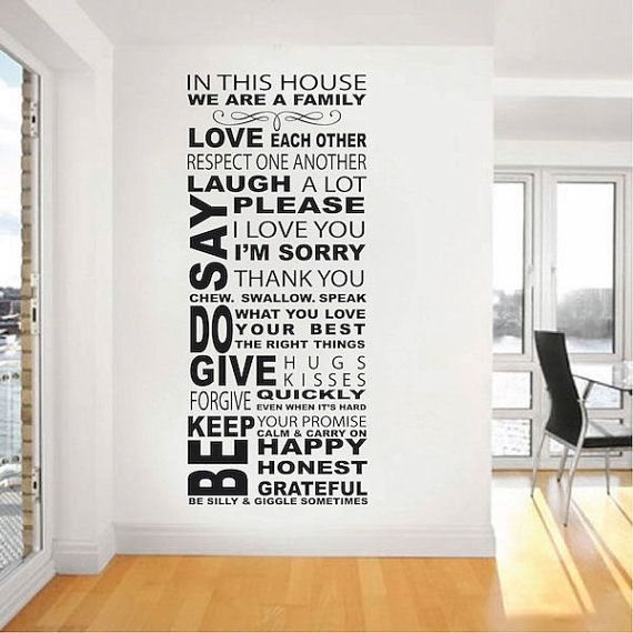 Best Family Wall Quotes Ideas On Pinterest