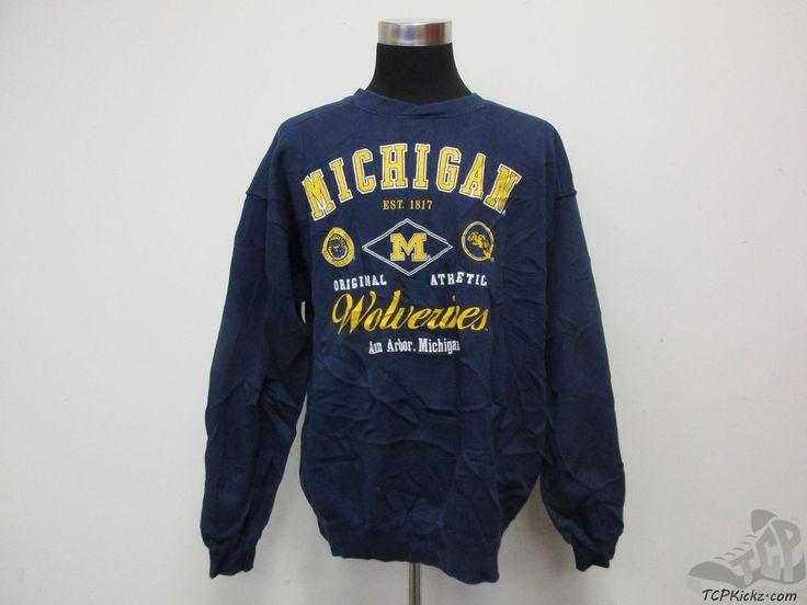 Vtg 90s Galt Crew Michigan Wolverines Basketball Crewneck Sweatshirt sz XL UM  #GaltCrew #MichiganWolverines