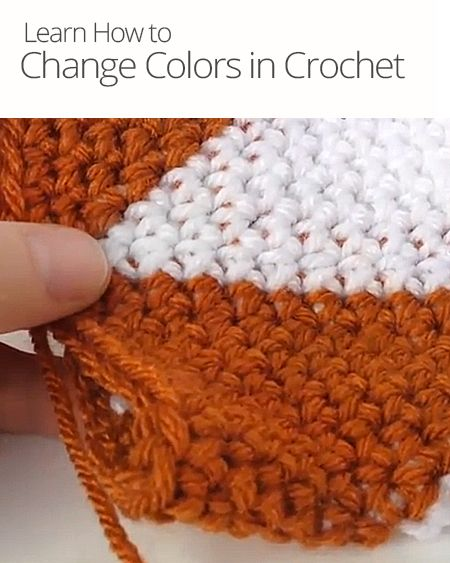 Crocheting How To Change Colors : How to Change Colors in Crochet Crochet Pinterest